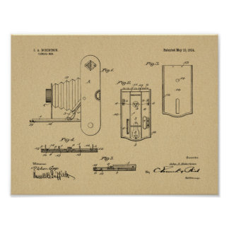 1914 Folding Camera Patent Art Drawing Print