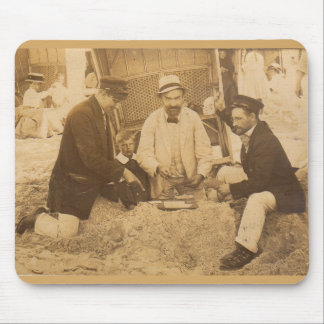 1914 fun on the beach in Germany RPPC Mouse Pad