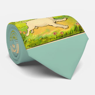 1914 two dogs running tie