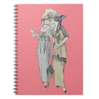 1914 vintage fashion notebook