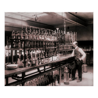1914 WHISKEY TEST LABORATORY POSTER
