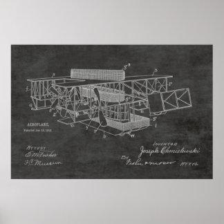1915 Boat Airplane Patent Art Drawing Print