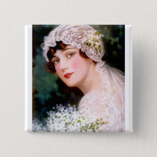 1915 Bride 2 Inch Square Button