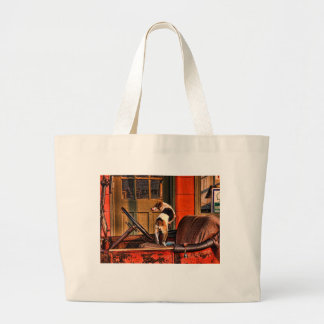 1915 DODGE AND DOG LARGE TOTE BAG