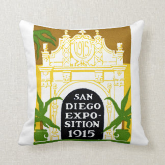 1915 San Diego Exposition Throw Pillow