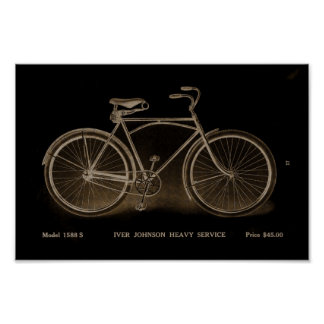 1915 Vintage Heavy Service Bicycle Ad Art Poster