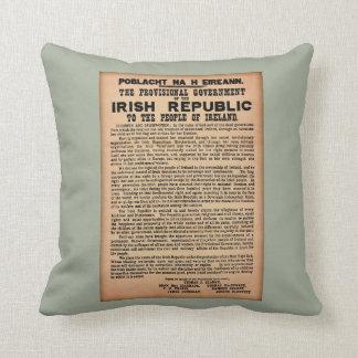 1916 Proclamation of Ireland Cushion