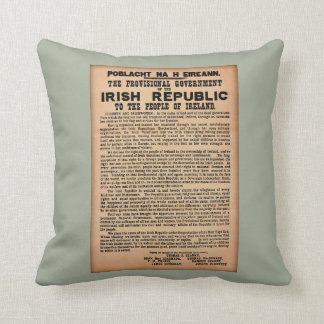 1916 Proclamation of Ireland Cushion Throw Pillow