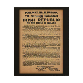 1916 Proclamation of Ireland Wooden Wall Art Wood Prints