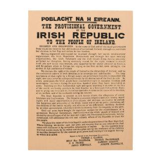 1916 Proclamation of the Irish Republic Ireland Wood Wall Art