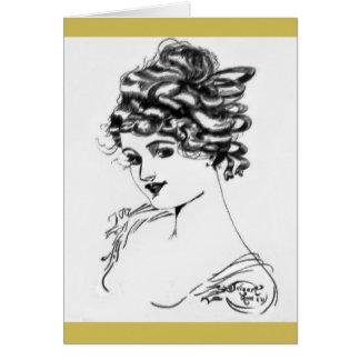 1917 Art Nouveau Note Cards! Card
