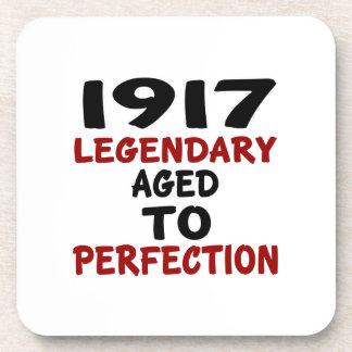 1917 LEGENDARY AGED TO PERFECTION DRINK COASTER