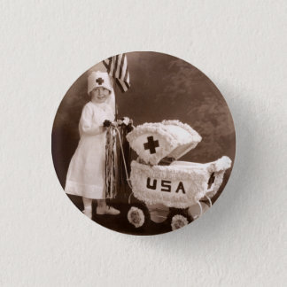 1917 Patriotic Nurse 1 Inch Round Button