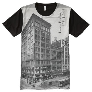 1917 Woodward in Detroit w Kresge Building All-Over-Print T-Shirt