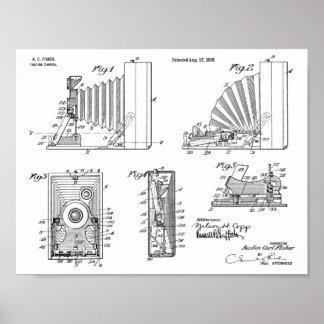 1918 Folding Camera Patent Art Drawing Print