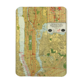 1918 New York Central Railroad Map Magnet