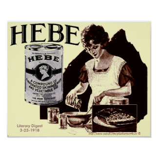 1918 Poster for Hebe evaporated milk