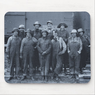 1918 Women Laborers Union Pacific Railroad Mouse Pad