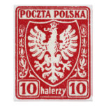 1919 10h Polish Eagle Stamp Poster