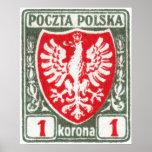 1919 1k Polish Eagle Stamp Posters