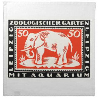 1919 Germany Leipzig Zoo Notgeld Banknote Napkin