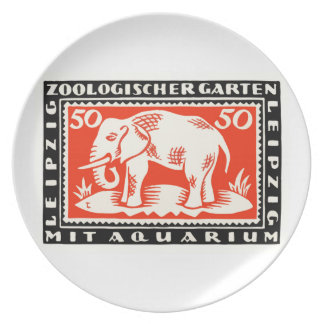 1919 Germany Leipzig Zoo Notgeld Banknote Party Plates