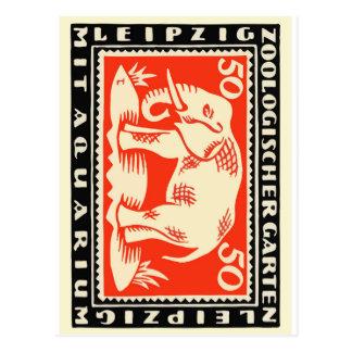 1919 Germany Leipzig Zoo Notgeld Banknote Postcard