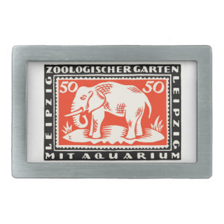 1919 Germany Leipzig Zoo Notgeld Banknote Rectangular Belt Buckle