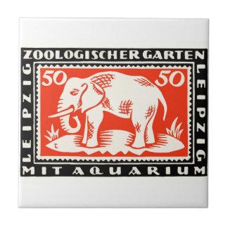 1919 Germany Leipzig Zoo Notgeld Banknote Tile