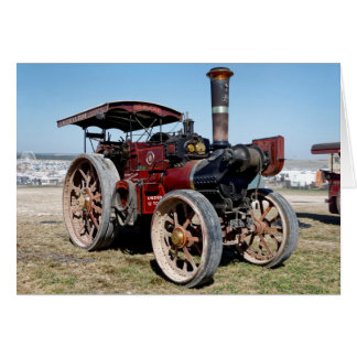 1920 Burrell 6nhp Road Locomotive and Crane Engine Card