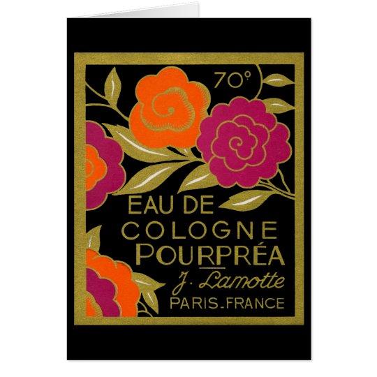 1920 Eau de Cologne Pourprea perfume Card