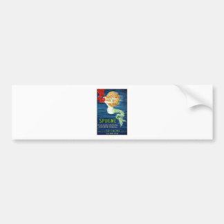 1920 Italian Mermaid With Sponge Advertising Poste Bumper Sticker