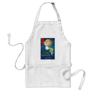 1920 Italian Mermaid With Sponge Advertising Poste Standard Apron