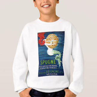 1920 Italian Mermaid With Sponge Advertising Poste Sweatshirt