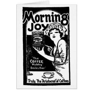 1920 Morning Joy Coffee Newspaper Ad Card