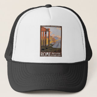 1920 Paris To Rome Train Travel Poster Trucker Hat
