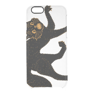 1920 Scary Black Cat Clear iPhone 6/6S Case