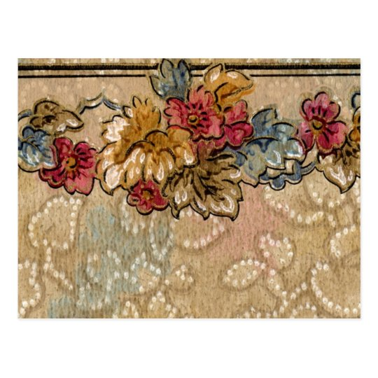 1920 Wallpaper Floral Border Card (32)
