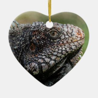 1920px-Iguanidae_head_from_Venezuela Ceramic Heart Ornament