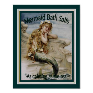 1920's Ad for Mermaid Bath Salts 16x20 Poster