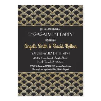 1920's Art Deco Engagement Invitations Gatsby