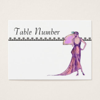 1920's Art Deco Table Number Cards