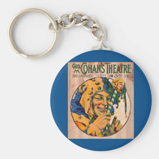 1920s Cohan's Theatre playbill cover Keychain