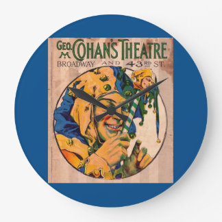 1920s Cohan's Theatre playbill cover Large Clock