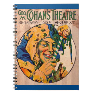 1920s Cohan's Theatre playbill cover Notebook