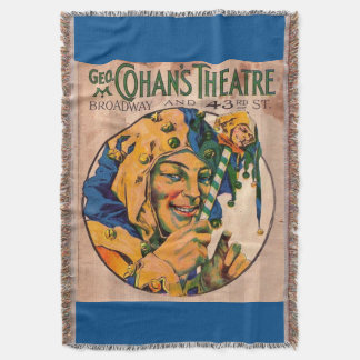 1920s Cohan's Theatre playbill cover Throw Blanket