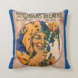 1920s Cohan's Theatre playbill cover Throw Pillow