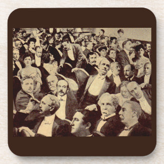 1920s crowd scene coaster