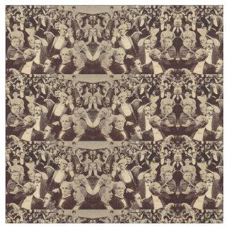 1920s crowd scene fabric