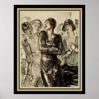 1920's Deco Magazine Illustration 16 x 20 Poster
